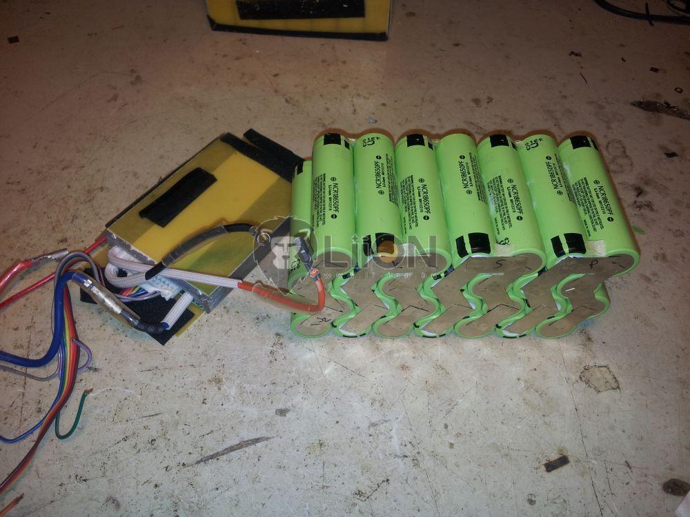 24V li-ion e-bike akku felújítás