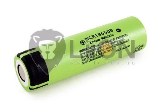 Panasonic NCR18650B 3,7V 3400mAh li-ion akku