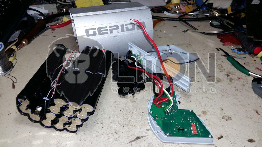 Gepida 36V li-ion pedelec elektromos bicikli akku felújítás