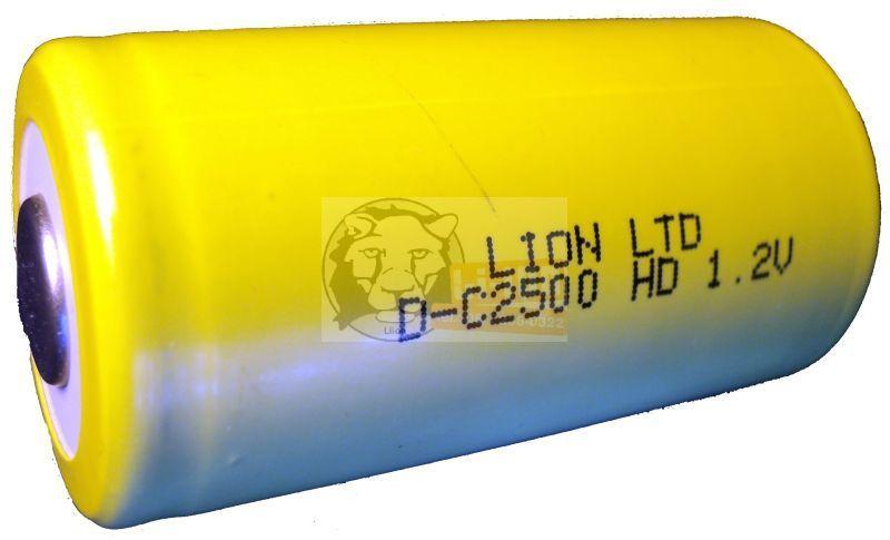 Ni-Cd 1,2V 2500mAh C battery cell