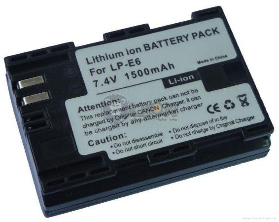 Canon LP-E6 kamera Batterie – Ersatz