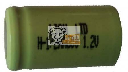 Ni-Mh 1,2V 1/2AA battery cell