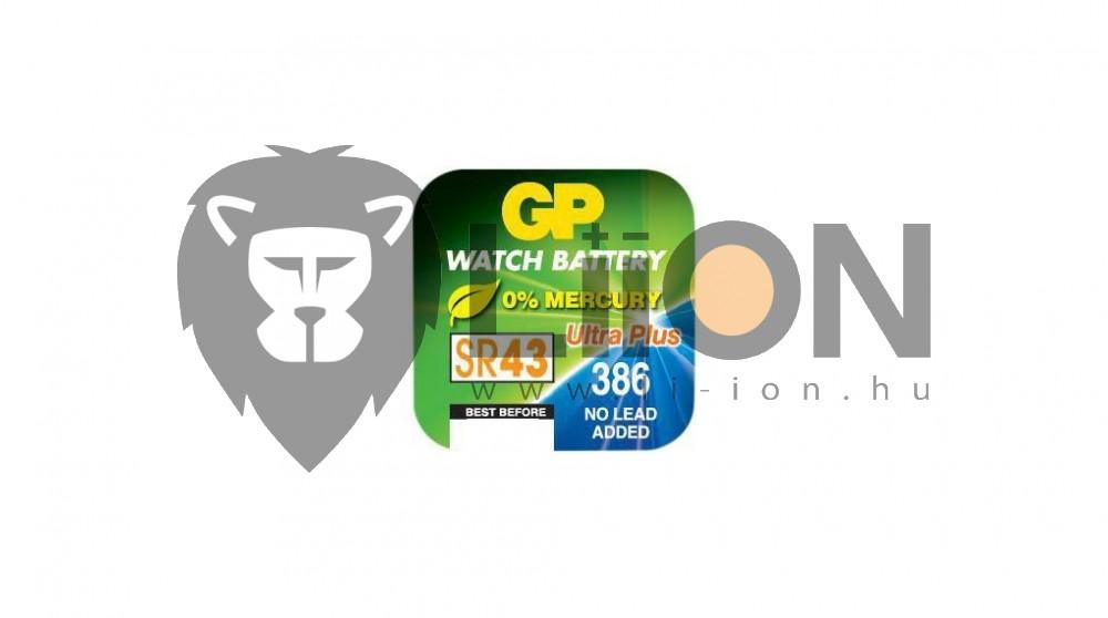 GP SR43 ezüst-oxid gombelem