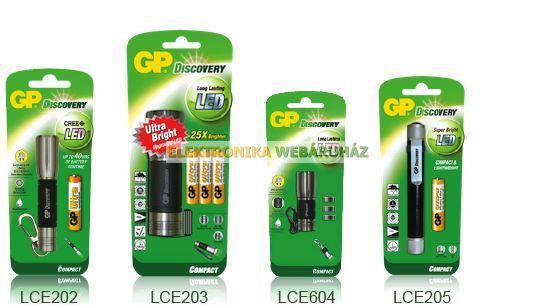 GP LED elemlámpa LCE604 + 3 x GP A76 elem