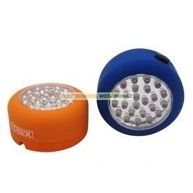 24 LED-es kerek formájú elemlámpa
