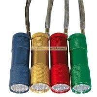 9 LED fém rúdlámpa