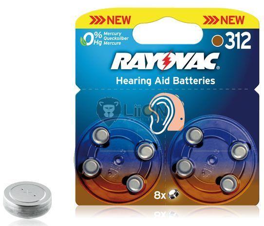Rayovac Hearing Aid HA312 nagyothalló elem