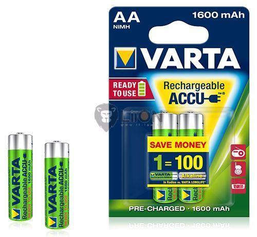 VARTA Ready 2 Use AA 1600 mAh ceruza akkumulátor 2db-os