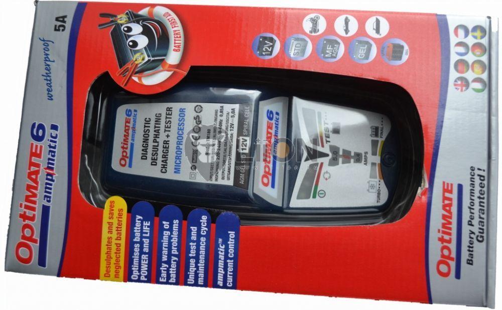 OptiMate 6 automata akkutöltő, karbantartó