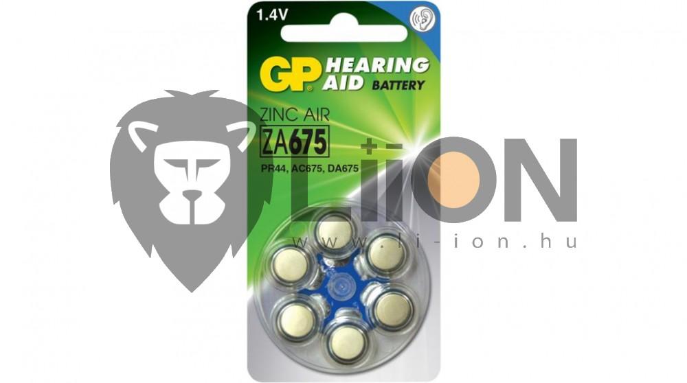 GP ZA675 hallókészülék gombelem