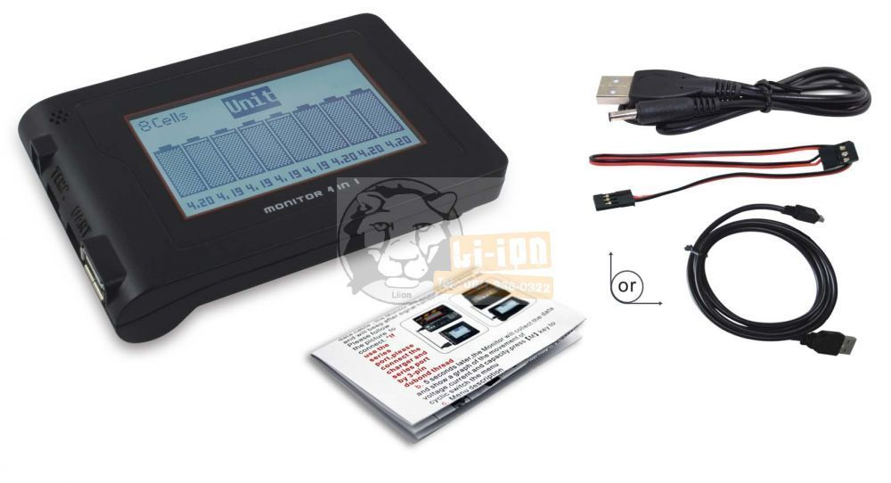 Monitor for USB port battery pack chargers
