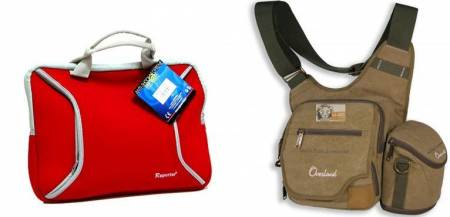 Cases, bags for cameras, laptops, camcorders, MP4s, etc.