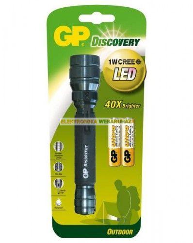 GP LED elemlámpa LOE102 + 2 x AAA GP Ultra elem