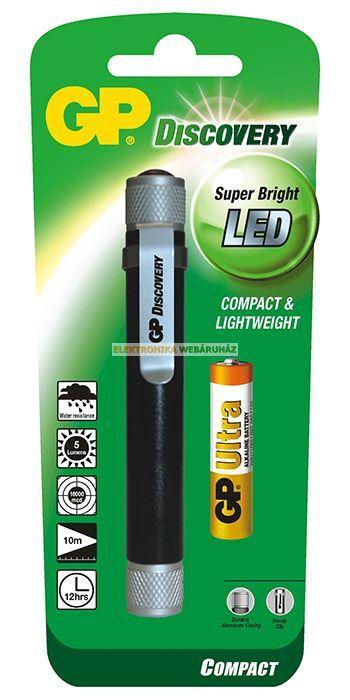 GP LED LÁMPA LCE205 + 1X LR03