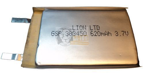 Li-polymer 383450 3,7V 620mAh battery cell