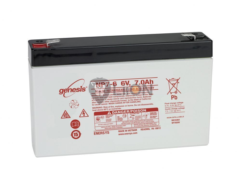 Genesis NP batteries 6V 7Ah