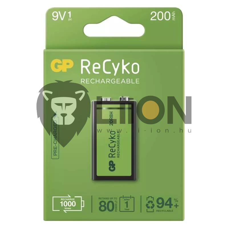 Gp Recyko+ 9V akku 150mAh