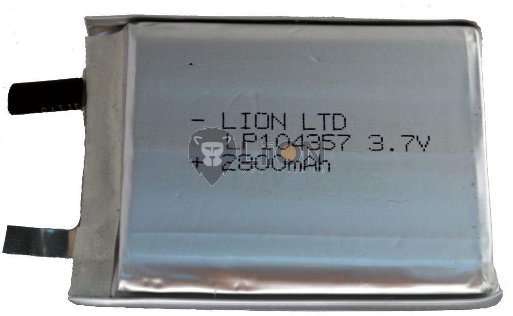 Li-polymer 104357 3,7V 2800mAh akku