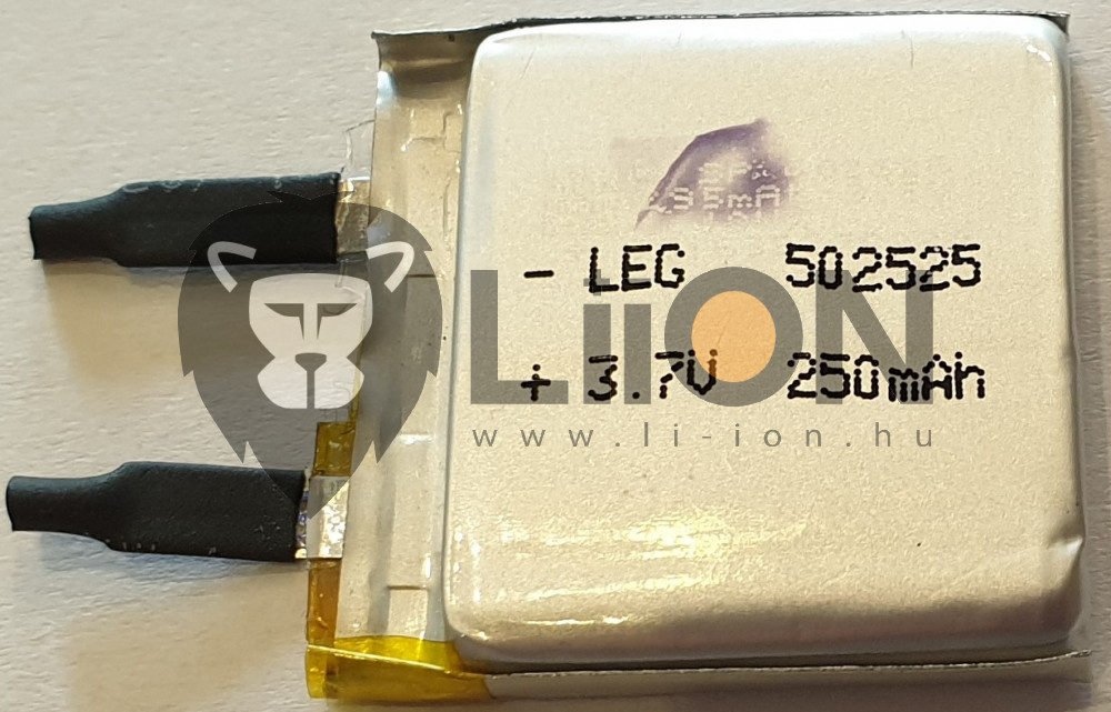 Li-polymer 53555 3,7V 900mAh battery cell