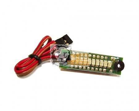 Akkupakk töltöttség jelző LED-es