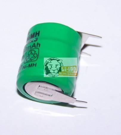 80BVH3A3H memory battery with 3 panel legs 3.6 V 80mAh Ni-Mh